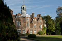 The grounds of Rothamsted Manor, an event and filming location in Harpenden, Hertfordshire