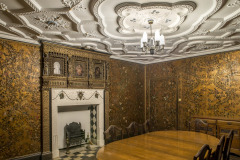 The Spanish Leather Room at Rothamsted Manor, an event and filming location in Harpenden, Hertfordshire