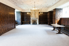 The Library at Rothamsted Manor, an event and filming location in Harpenden, Hertfordshire