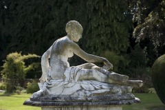 Sculpture in the gardens of Rothamsted Manor, an event and filming location in Harpenden, Hertfordshire