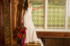 Bride at the Window in Rothamsted Manor