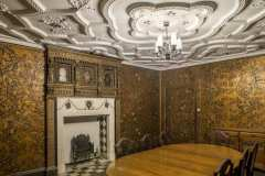 The Spanish Leather Room at Rothamsted Manor in Harpenden Hertfordshire