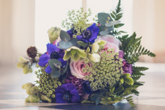 Floral display at Rothamsted Manor,  a sustainable wedding an event venue in Harpenden, Hertfordshire