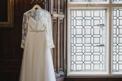 Rothamsted Manor Great Drawing Room wedding dress © Weddingly