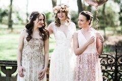 Bridesmaids At Rothamsted Manor gardens