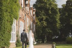Bride and Groom at Rothamsted Manor wedding venue Harpenden