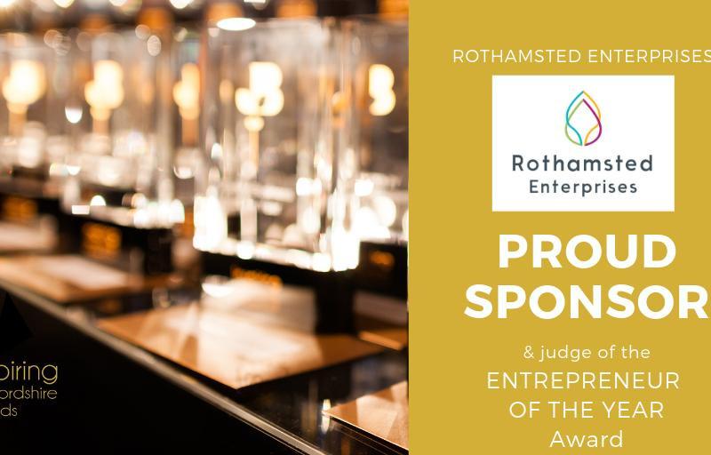 """Rothamsted Enterprises sponsors 'Entrepreneur of the Year"""" at Inspiring Hertfordshire Awards 2020"""