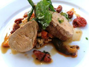 Pork recipe from Rothamsted Restaurant