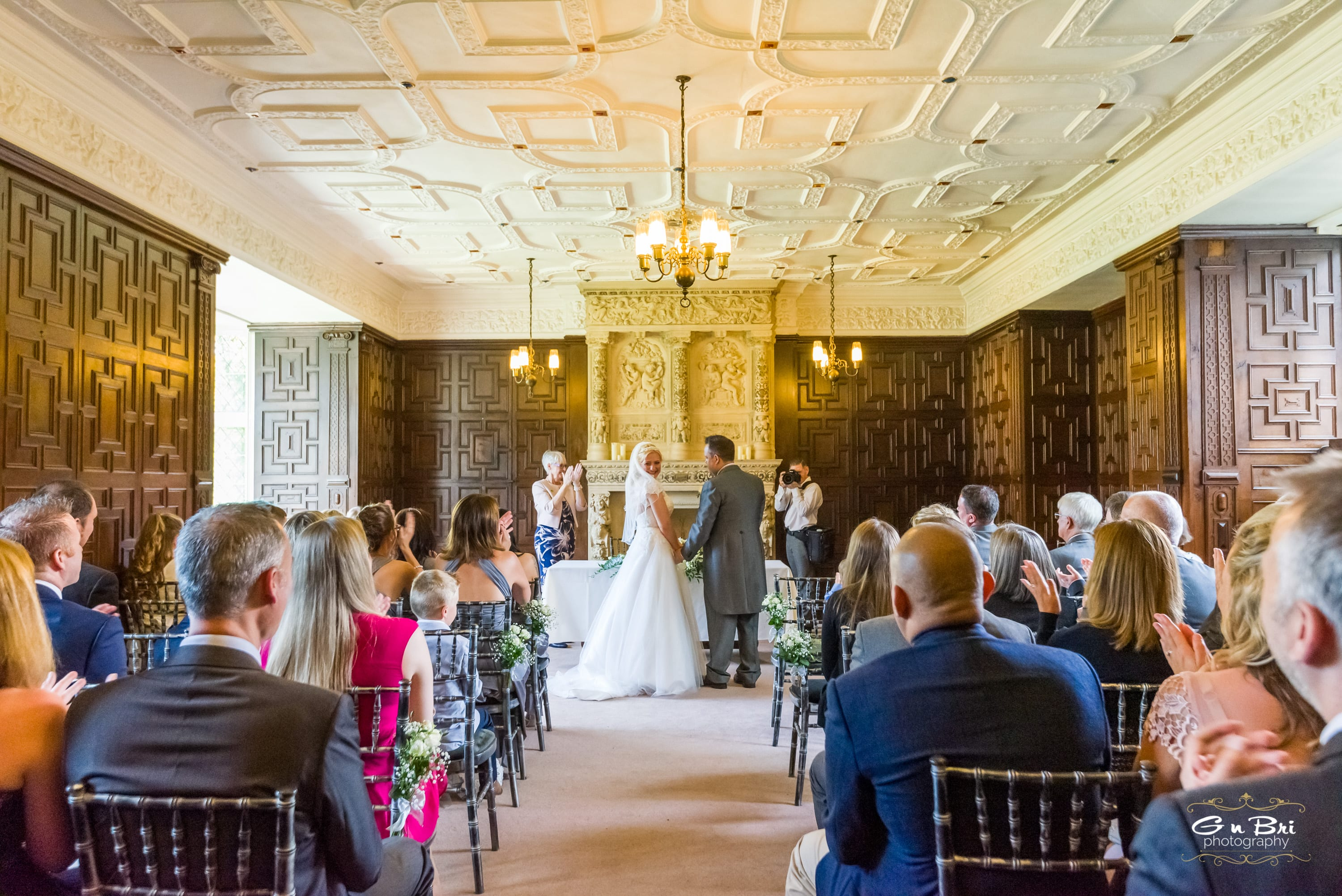 Wedding ceremony in the Library at Rothamsted Manor