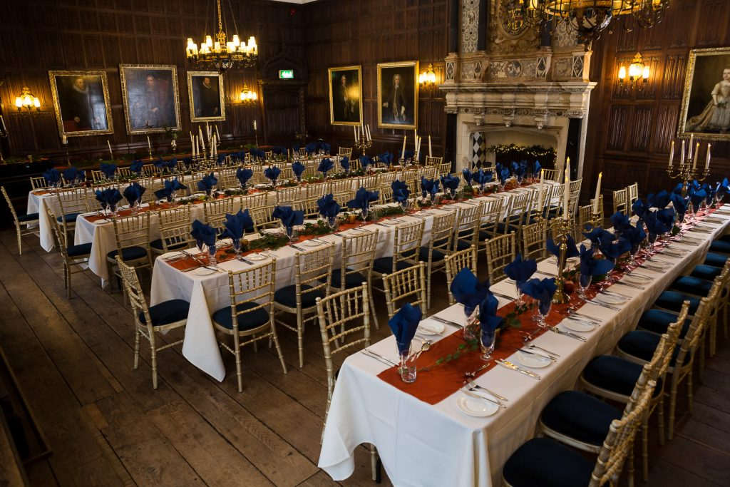 Rothamsted Manor set for a dining event