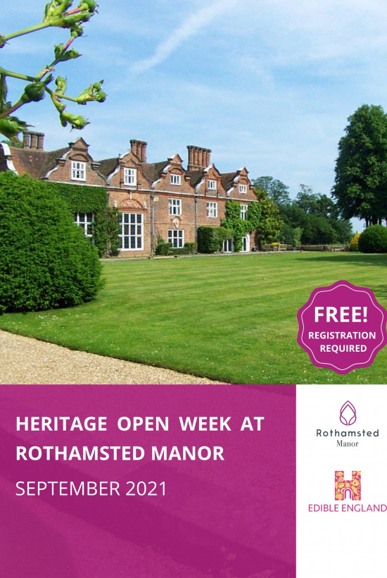 Heritage Open Week at Rothamsted Manor