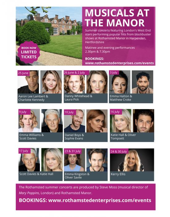Summer concerts at Rothamsted Manor: Emma Kingston & Oliver Savile