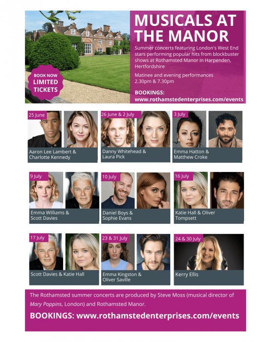 Summer concerts at Rothamsted Manor: Kerry Ellis